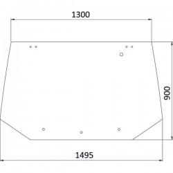 Aizmugurējais stikls Ford 81865244