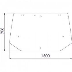 Aizmugurējais stikls Case IH 178304, 82016997, 87314710