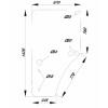 Durvju stikls kreisais John Deere L213354, L169102
