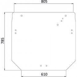 Aizmugurējais stikls John Deere R206835, SU27312