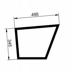 Durvju stikls kreisais apakšējais Valtra/Valmet V31506300
