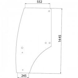 Durvju stikls kreisais John Deere R198624, R273148