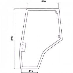 Durvju stikls labais Massey Ferguson 4272775M1