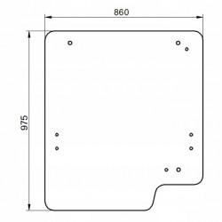 Priekšējais stikls JCB 827/30512