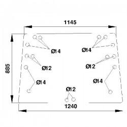 Aizmugurējais stikls Claas/Renault 7700687193