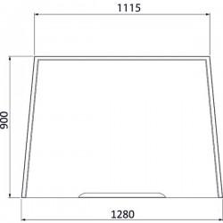 Priekšējais stikls Massey Ferguson 3902148M1