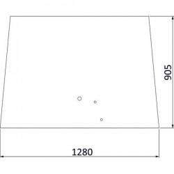 Priekšējais stikls Massey Ferguson 3777602M2