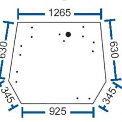 Aizmugurējais stikls Valtra/Valmet 31553300, 31553310, 36841200
