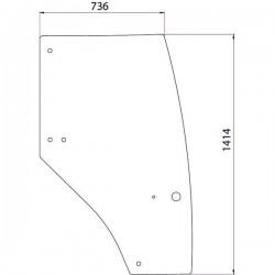 Durvju stikls labais Case IH 192004A4