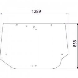 Aizmugurējais stikls Case IH 284947A2
