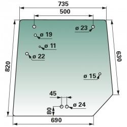 Aizmugurējais stikls Massey Ferguson 4272761M1